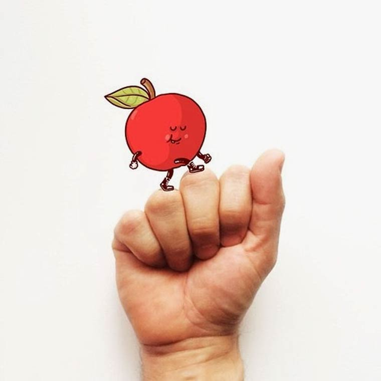 Sign Language Alphabet With Cute Illustrations Perfect For Kids