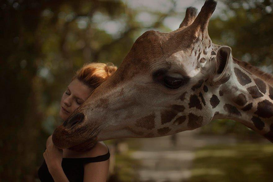 Dreamy And Majestic Beauty Of Girls Photographed With Real Wild Animals