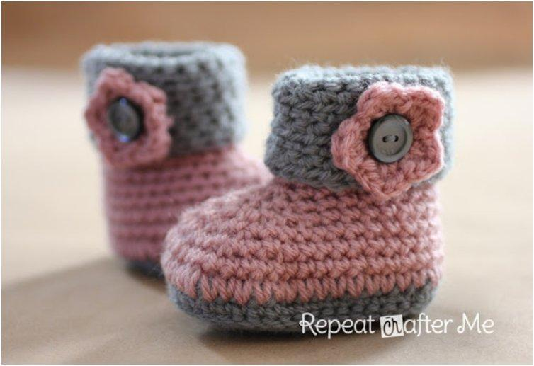 Crochet Baby Girl Boots Pattern : The 23 Most Adorable Baby Booties And Sandals You Can Make