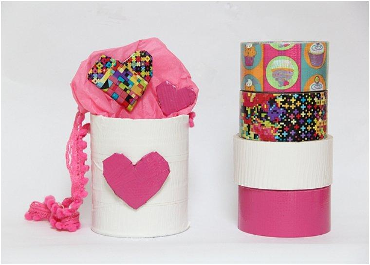 DIY Valentine's Duct Tape Basket