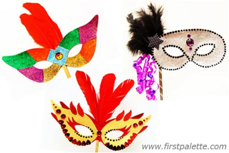 Easy Colorful Handheld Masks