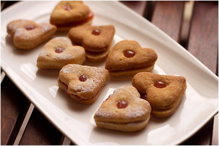 Eggless Jam Cookies