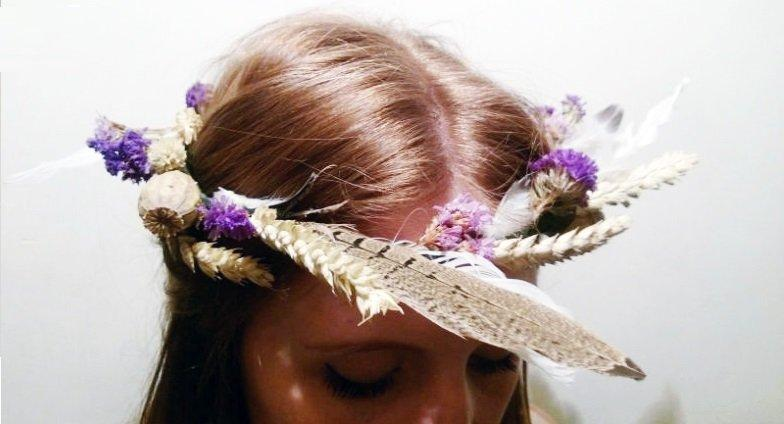 Feather & Flower Crown