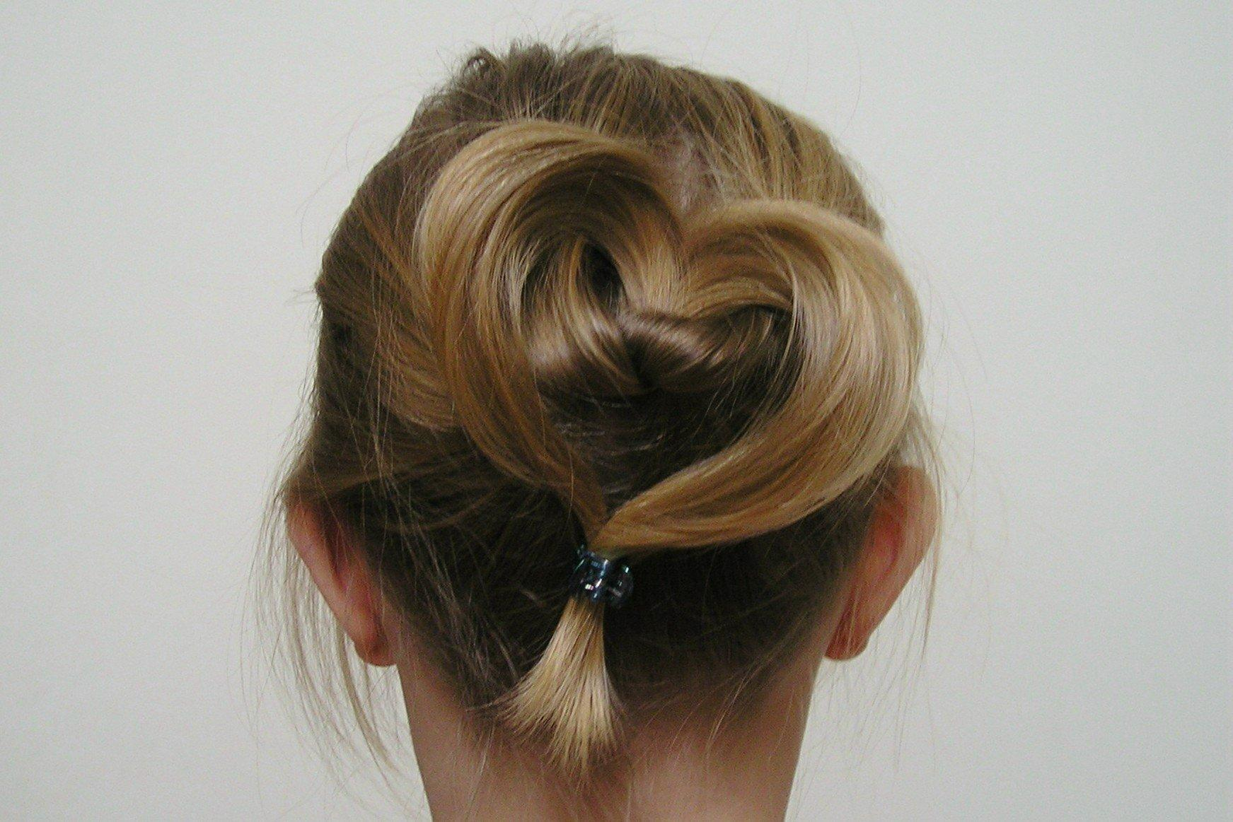 14 Adorable Heart Shaped Hairstyles For Young Ladies