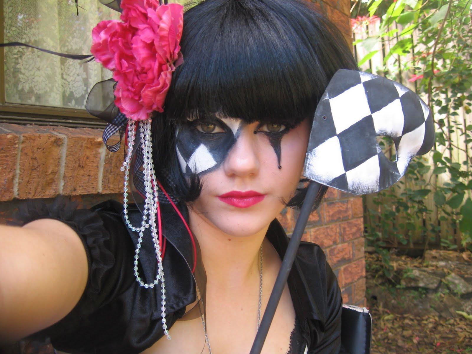 Mardi Gras Harlequin Half Mask