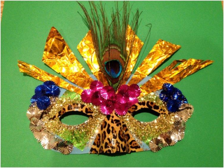 Mardi Gras Jungle Mask
