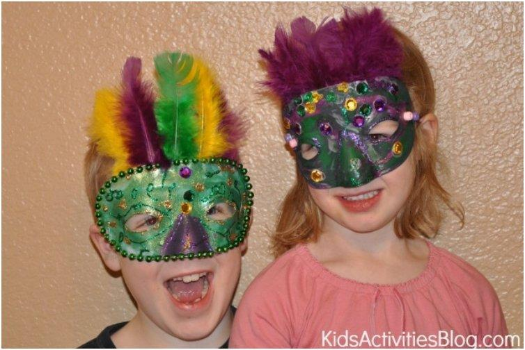 Mardi Gras Simple Kids Mask