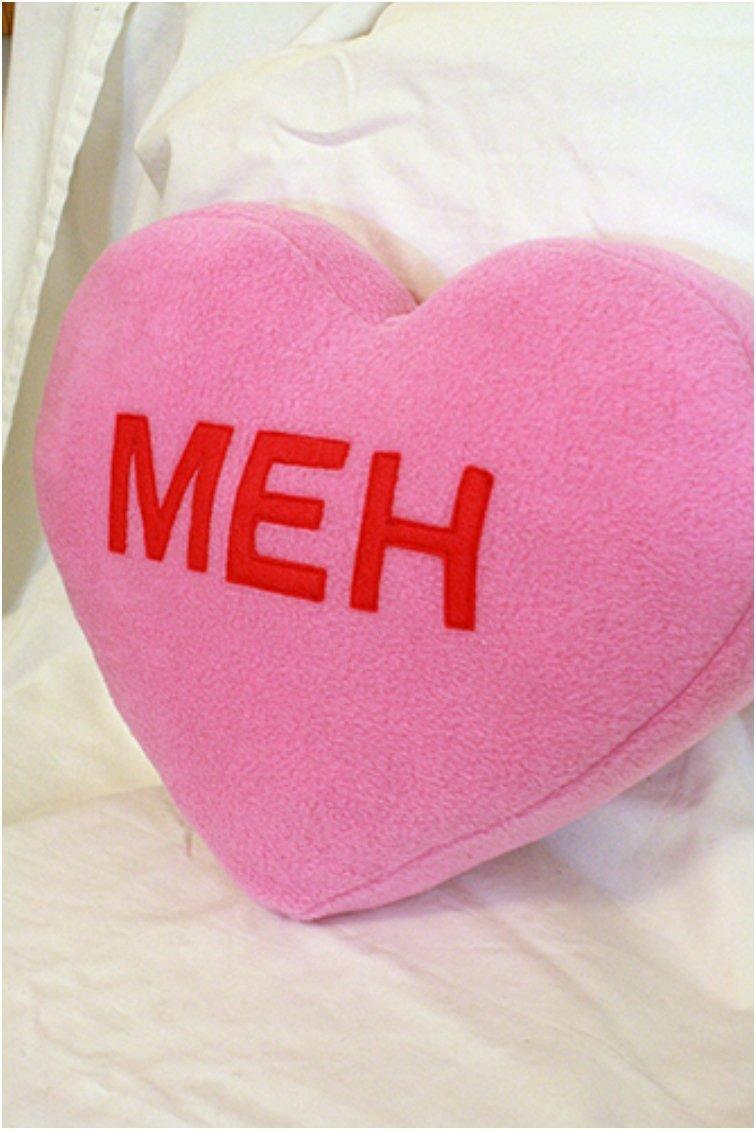Meh Candy Heart Cushion