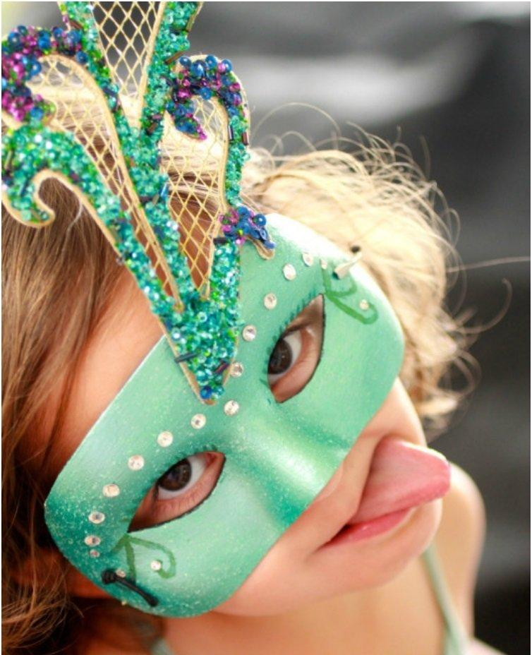Peacock Mardi Gras Mask