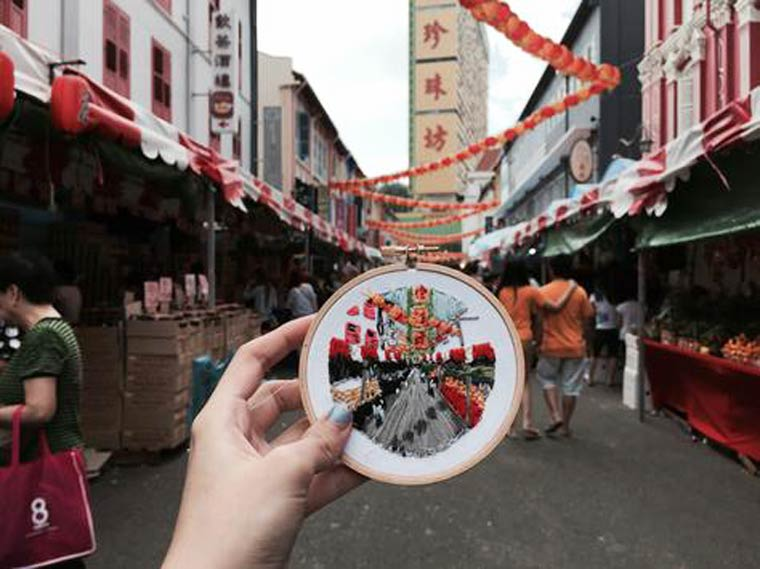 Instead Of Pictures, This Artist Makes Embroideries Of Her Travels