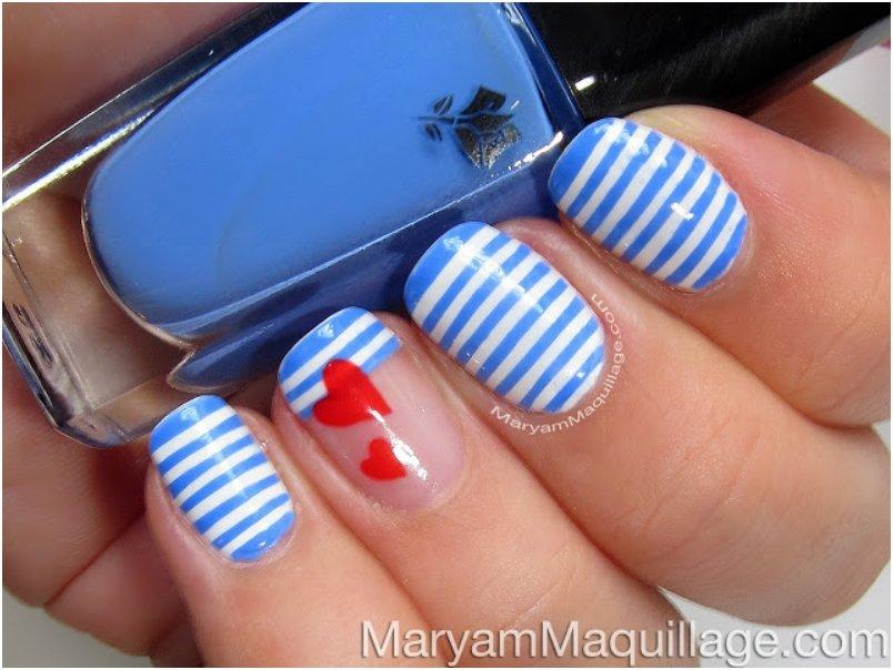 Sailor Stripes Nail Art