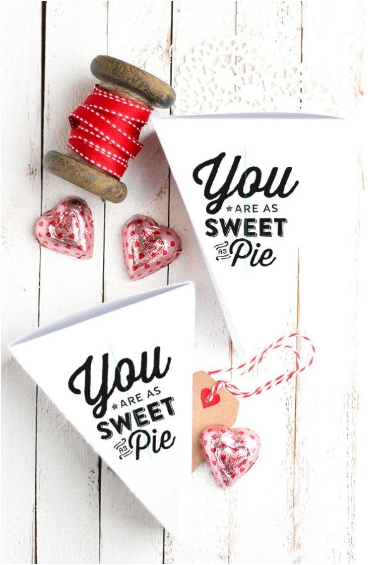 Sweet As Pie Free Printable Valentines