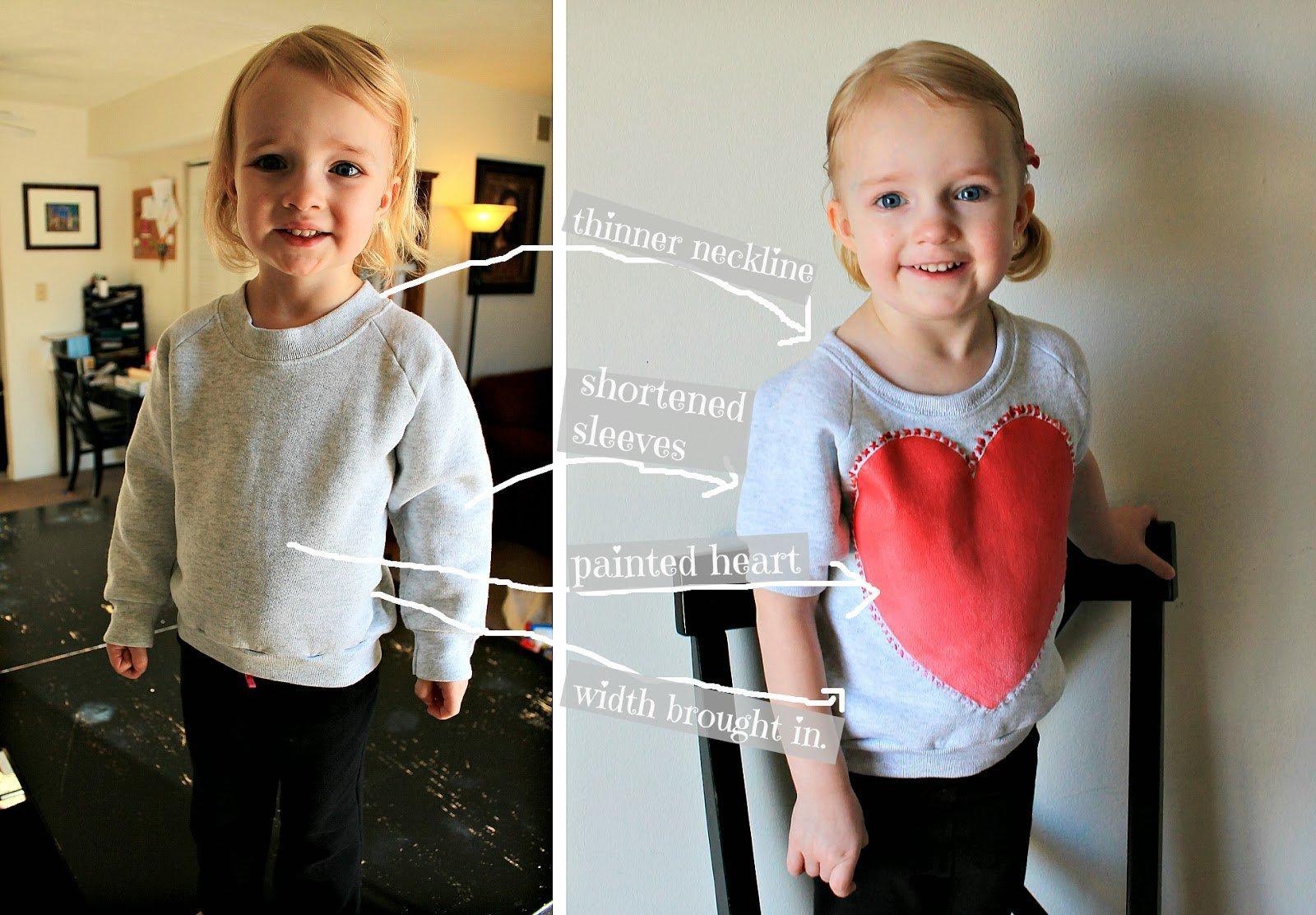 Sweetheart Sweatshirt Refashion