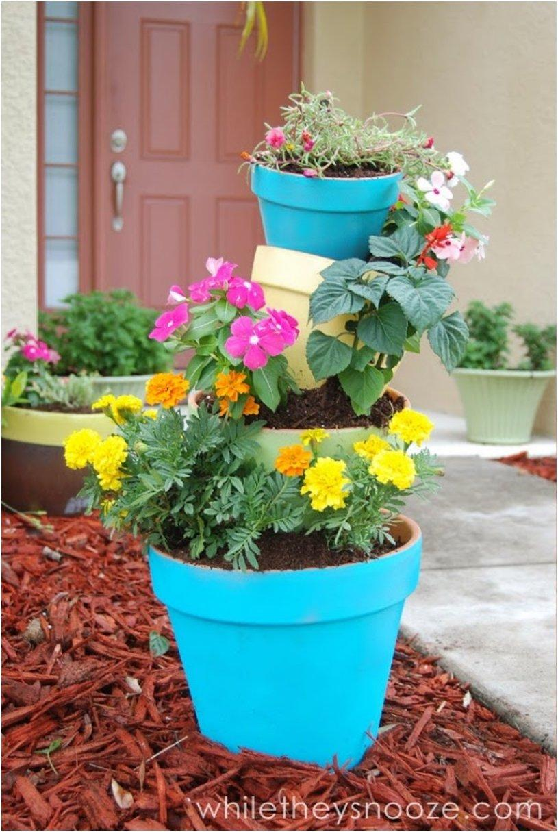 Tilted Pot Planter for Spring