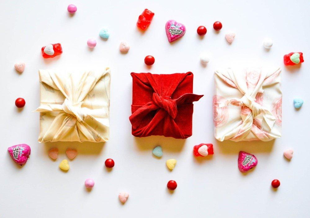 Valentine Day Fabric Wrapped Gift Box