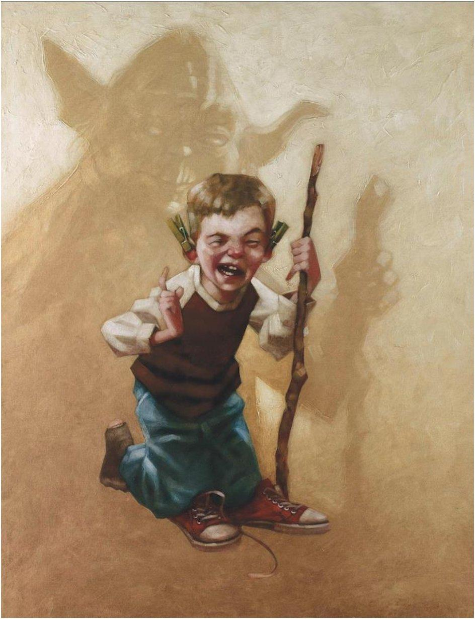 28 Nostalgic Paintings Of Children Playing Pretend