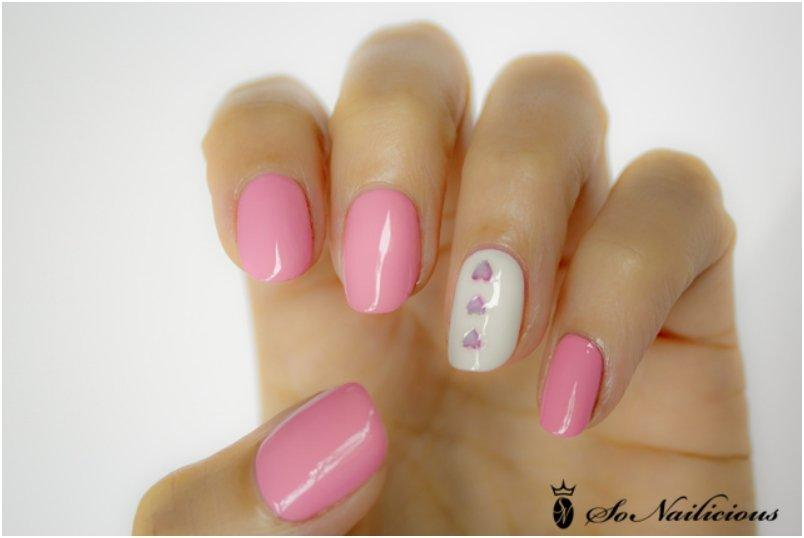hrough the Pink Glass Valentine s Day nails