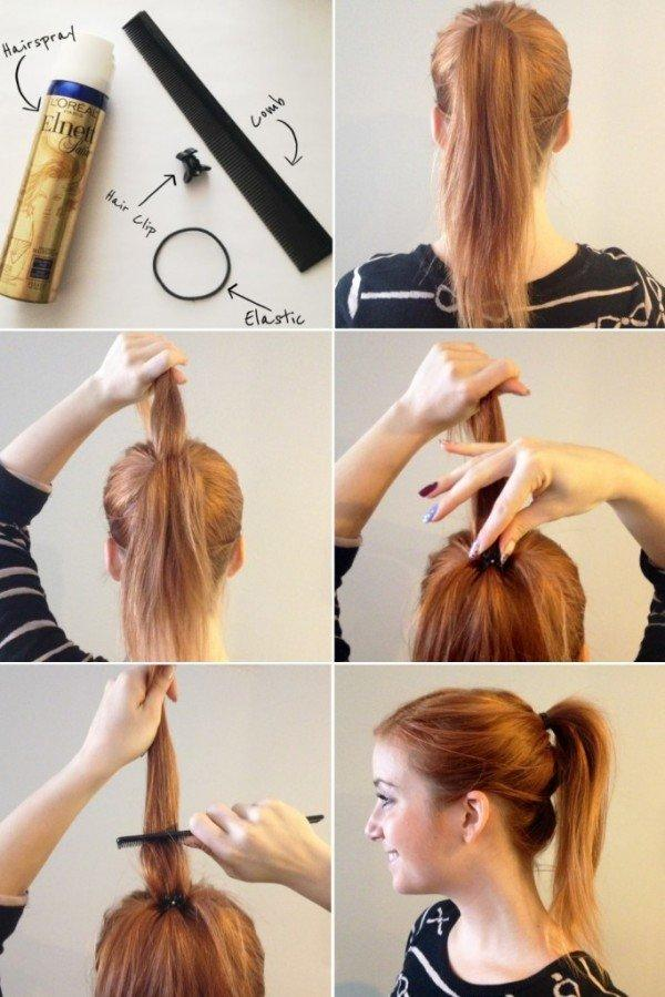 how to make your ponytail more interesting