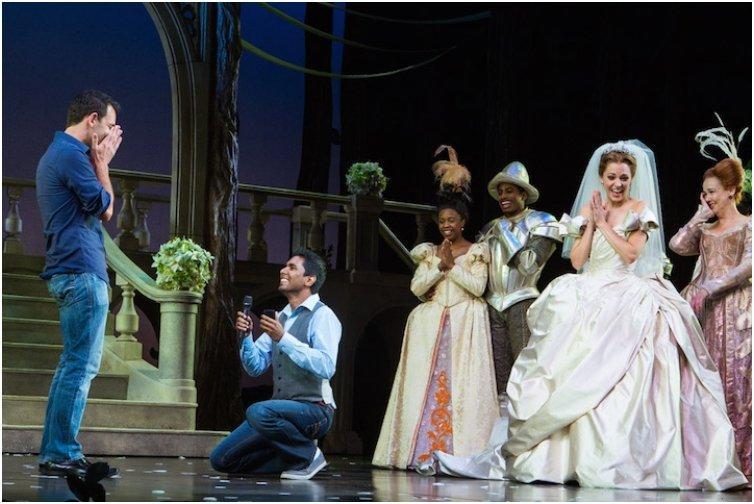 A Gay Wedding Proposal at Broadways Cinderella