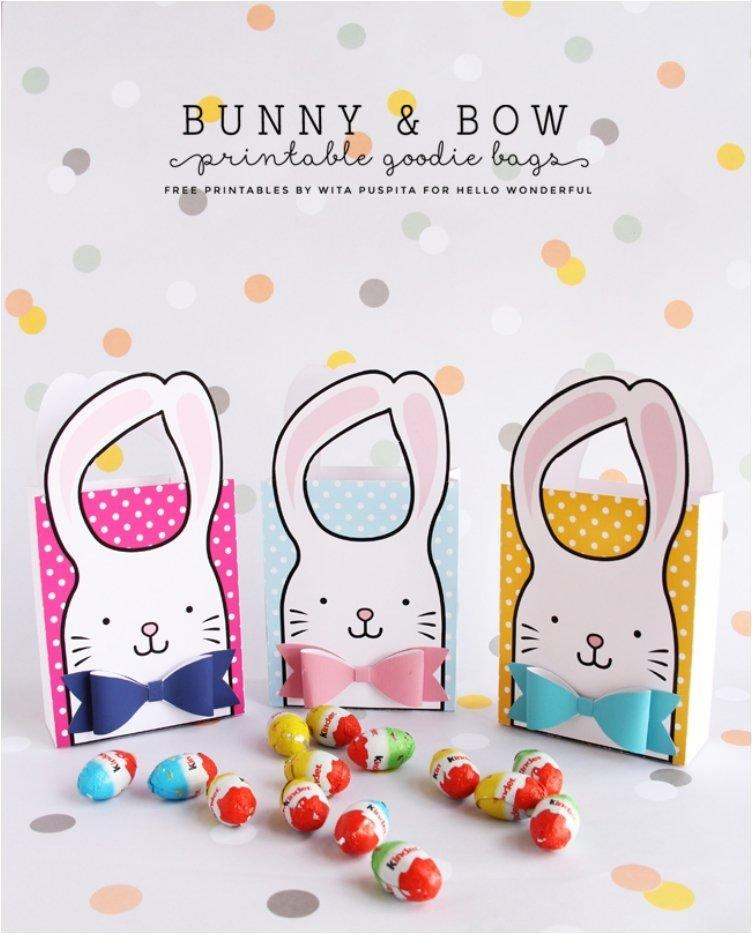 BUNNY & BOW FREE PRINTABLE GOODIE BAGS