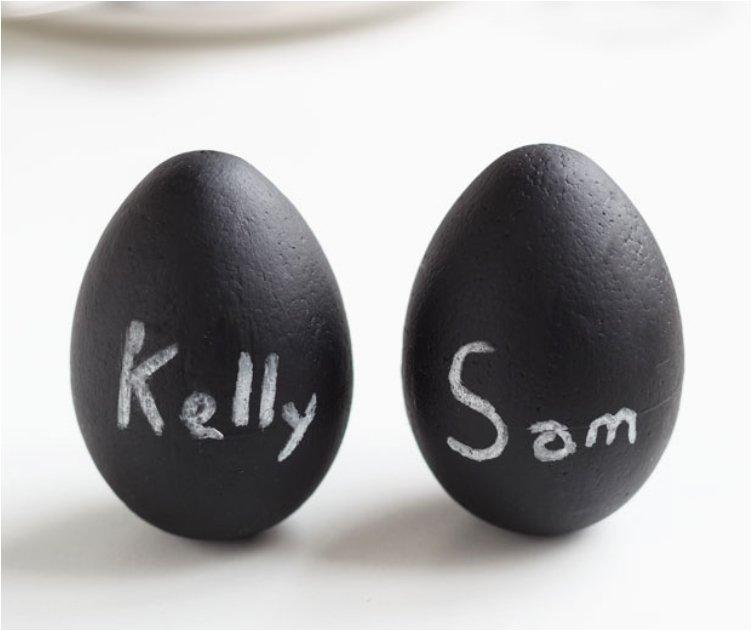 Chalkboard Egg Place Cards