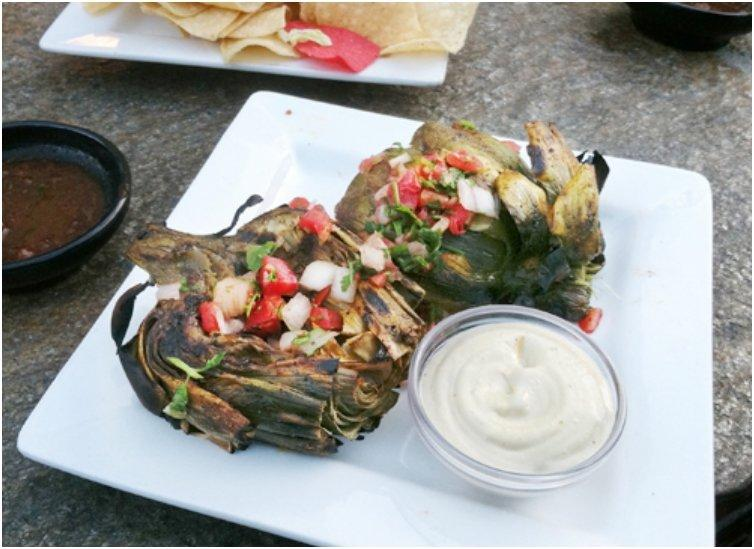 Chile-Lime Roasted Artichokes
