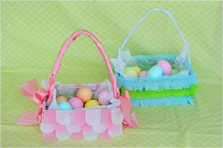 Crape Paper Easter Baskets