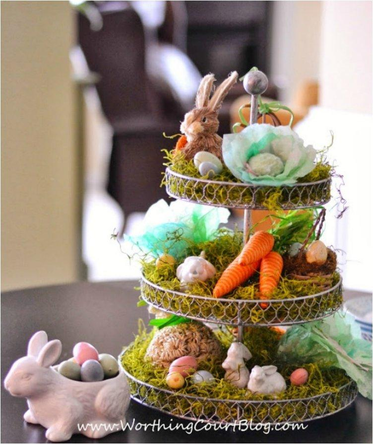 EASTER CENTERPIECE WITH A FUN CRAFT USING COFFEE FILTERS