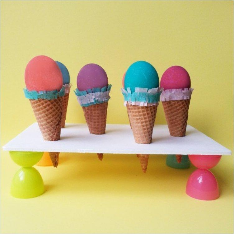 Easter Egg Ice Cream Cones