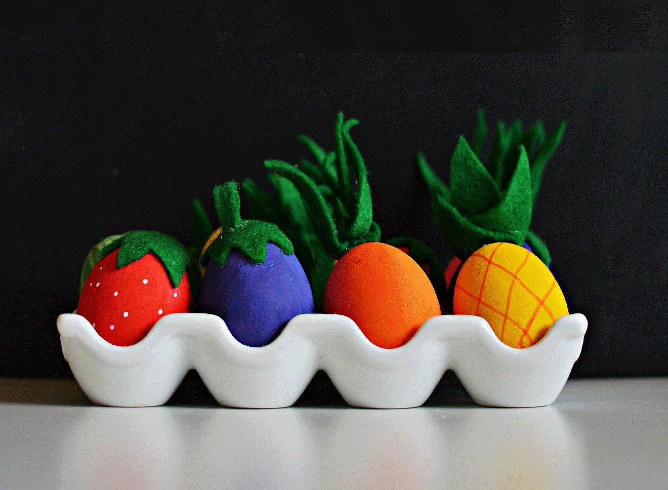 FRUIT & VEGETABLE EASTER EGGS
