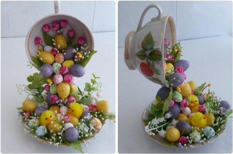 Flying Easter Cups Centerpiece