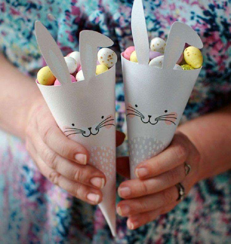 FreePrintable Bunny Easter Cones