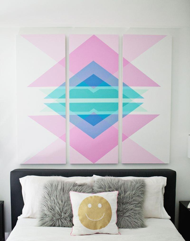 Embelish Your Empty Walls With These 25 Easy Wall Art Tutorials