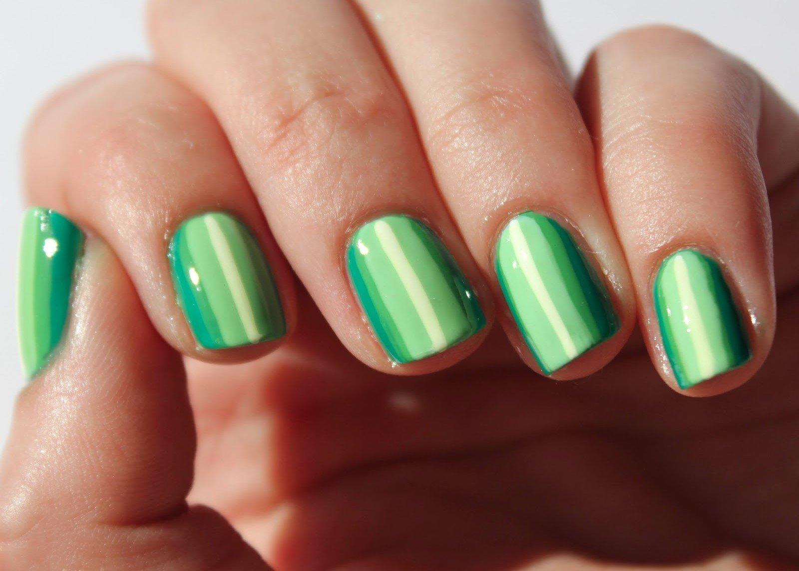 Green Ombre Stripes