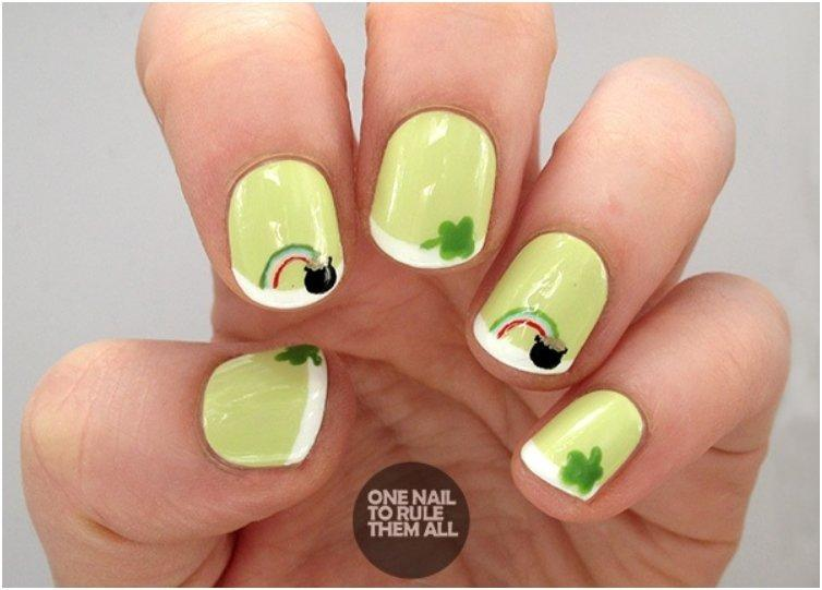 Lucky St. Patty s Nail Art