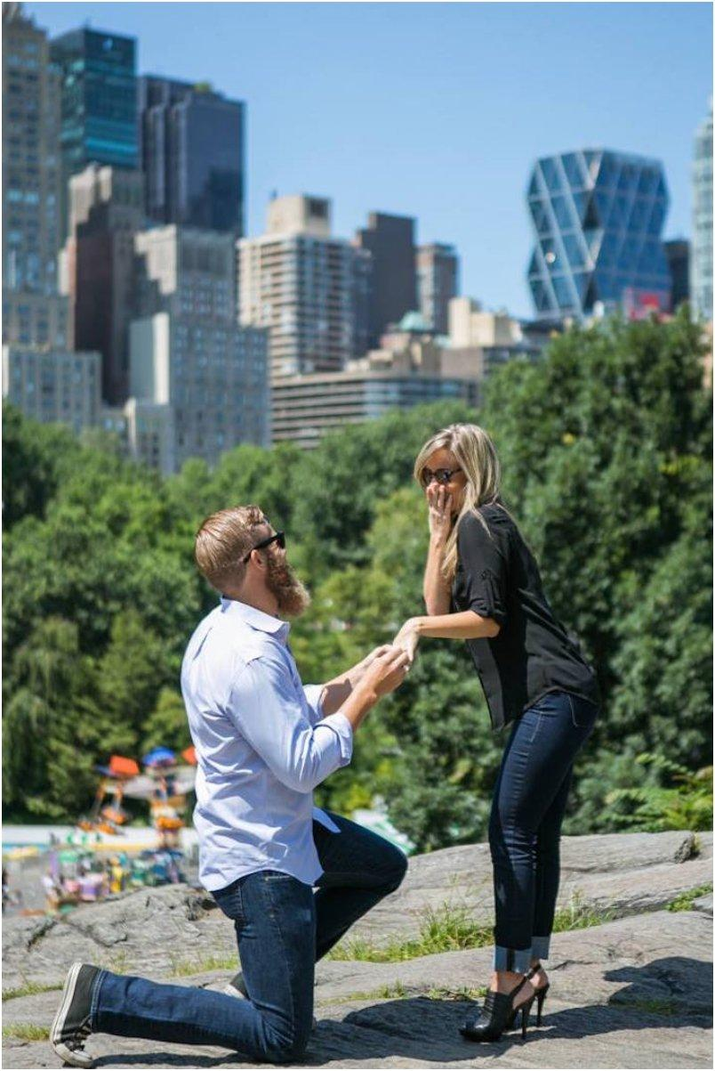 Marriage Proposal at Central Park