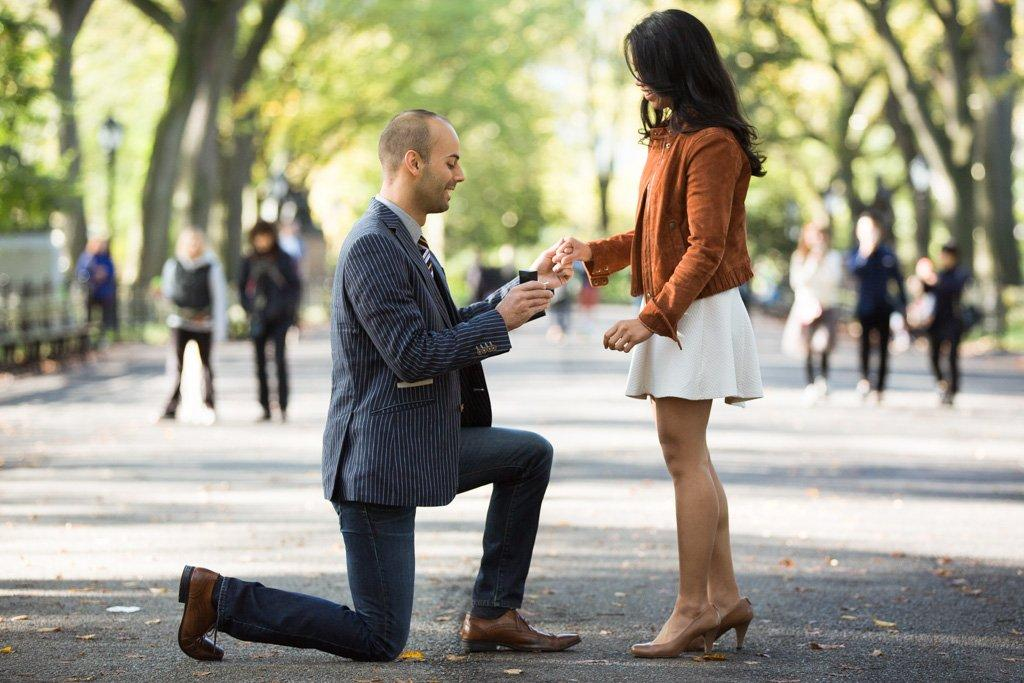 Marriage Proposal at the Mall at Central Park