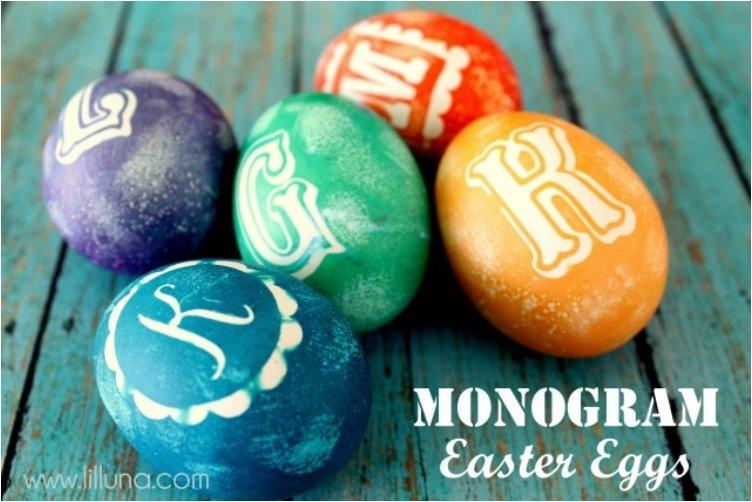 Monogram Easter Eggs