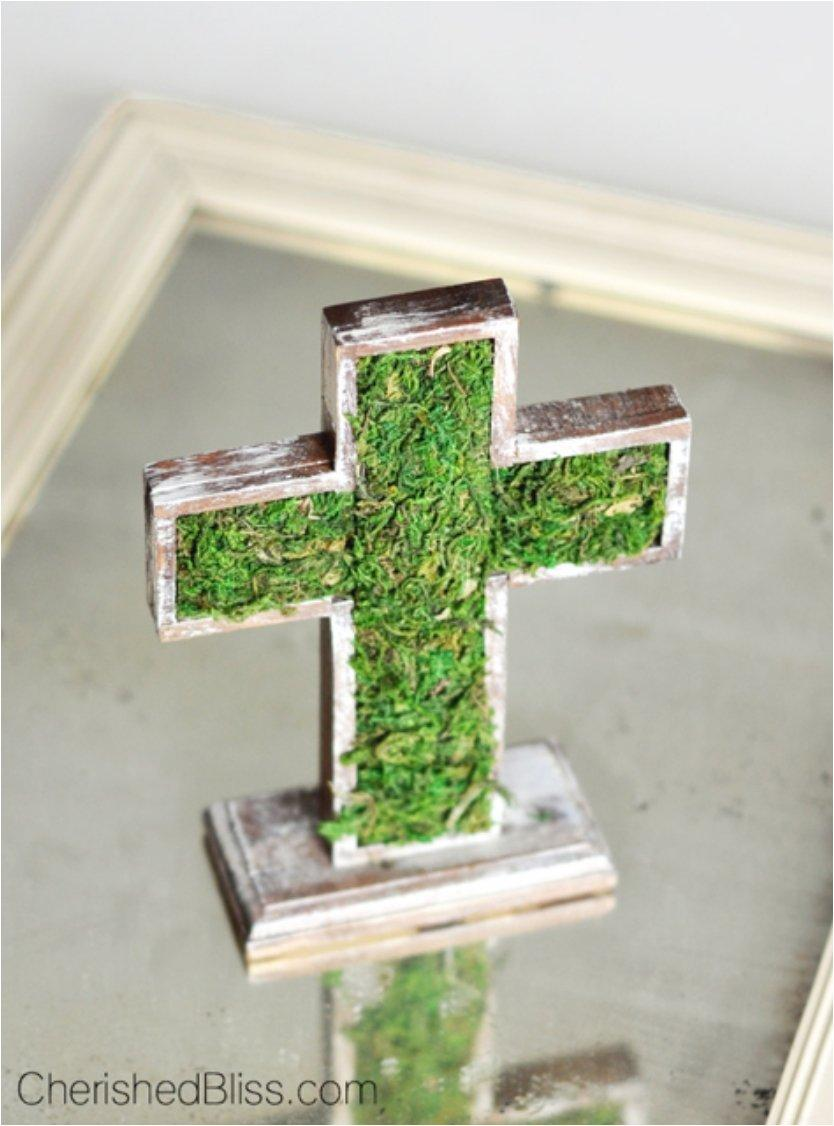 Moss Covered Wooden Cross