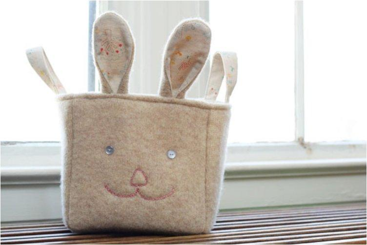 RECYCLED BUNNY BASKET