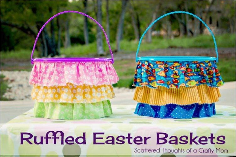 Ruffled Easter baskets title