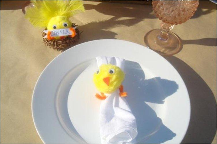 Spring Chick Placecard & Napkin Ring