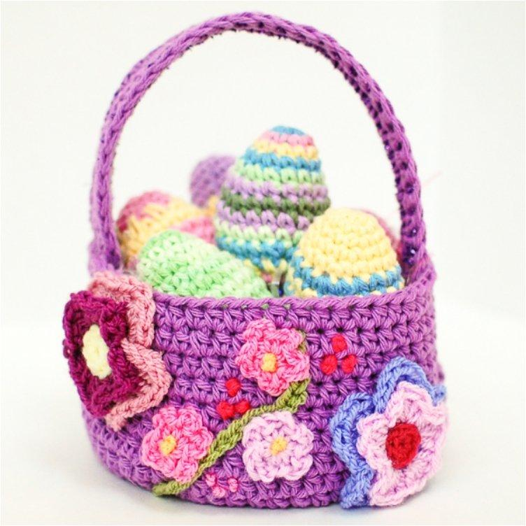 Spring Easter Basket Crochet Pattern