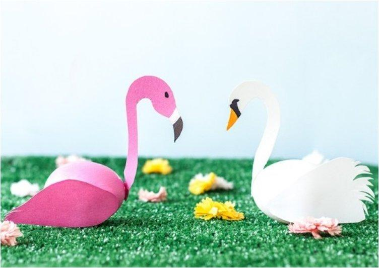 Swan + Flamingo Easter Eggs