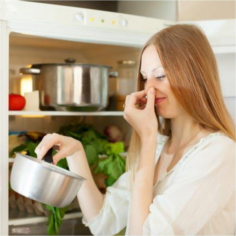 Take the odors out of refrigerators and ashtrays by placing a used tea bag in them to soak up offensive smells
