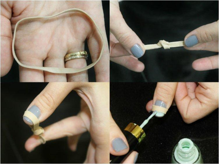 Use a Rubber Band to Create the Perfect French Manicure