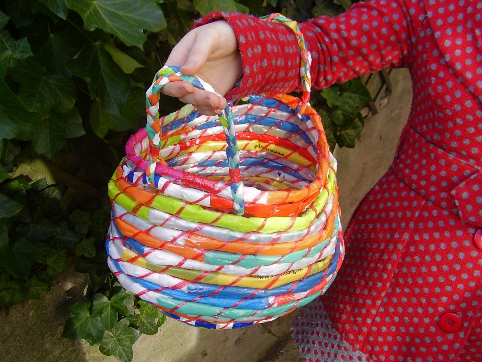 Woven Bag From Recycled Plastic Bags