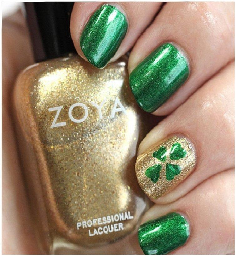 t. Patricks Day DIY Nail Art Tutorial That Anyone Can Do