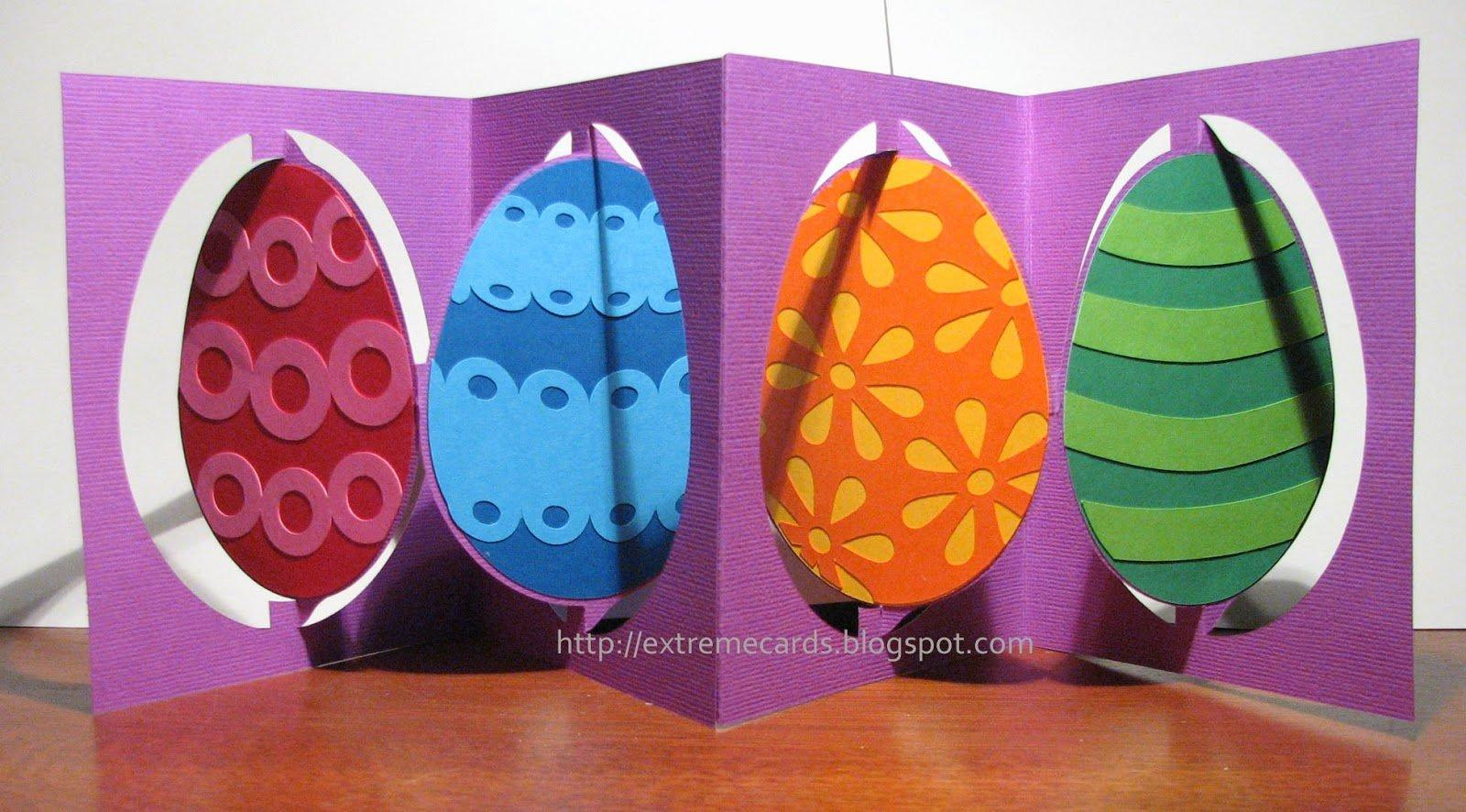 3D Easter Egg Accordion Flip Card