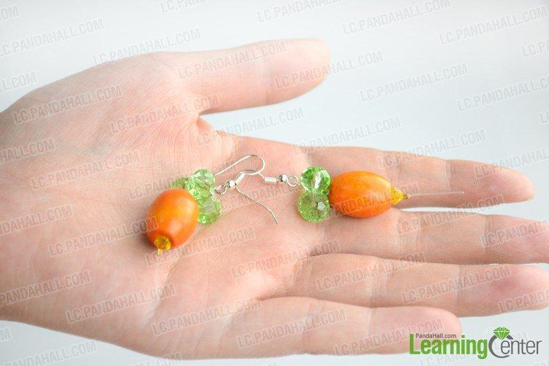 Beaded Easter carrot earrings